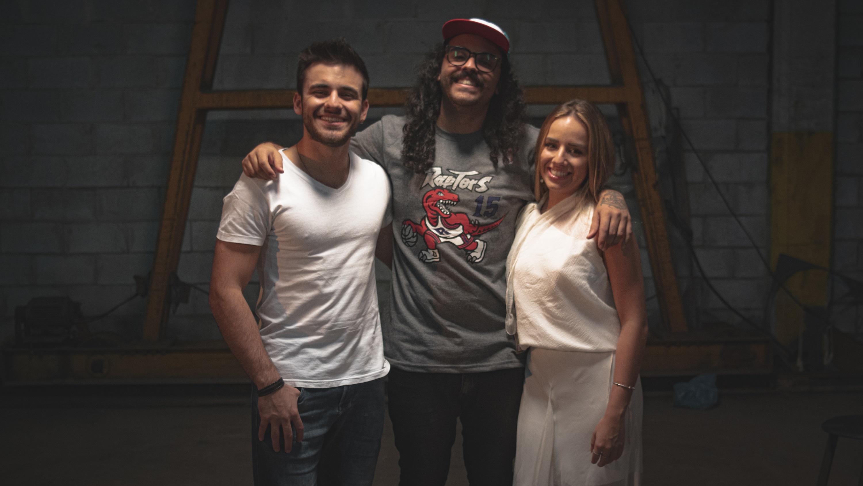 Erick Roza, Ygor de Oliveira e Naná Roza